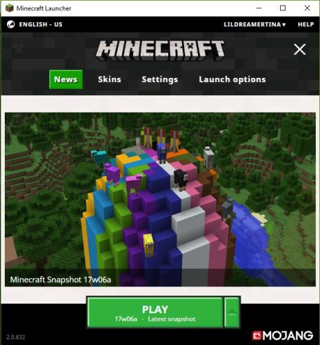 Regular Minecraft Launcher